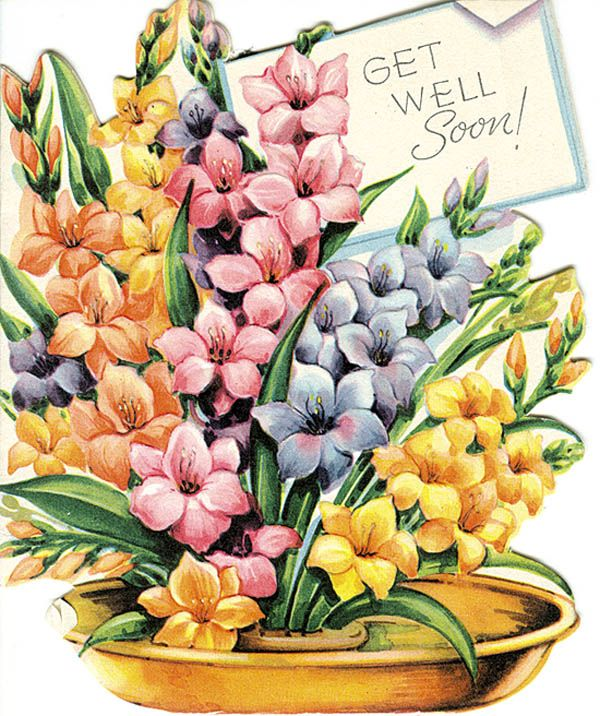 vintage get well cards - Google Search