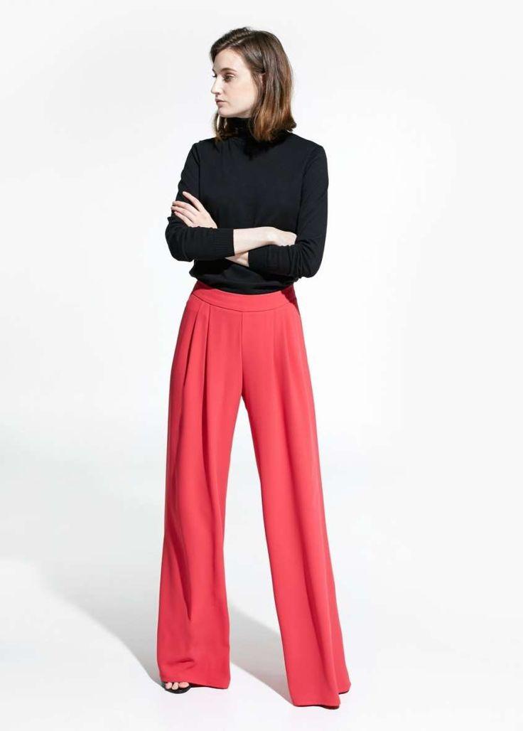 Catalogo Mango Primavera Estate 2015 - Pantaloni a palazzo rossi