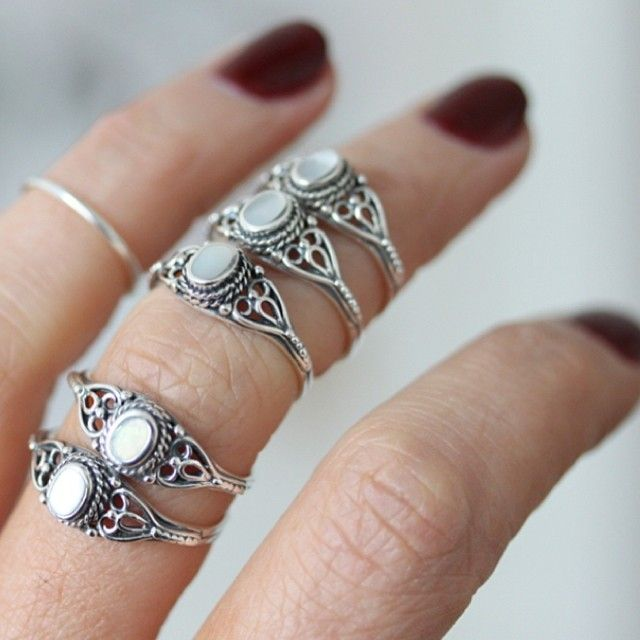 The 'Sea Gypsy' ring in all it's glory #motherofpearl Available in XSmall, Small, Medium & Large www.regalrose.co.uk