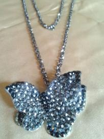 Gorgeous Black Crystal Butterfly Necklace.: Crystals, Style, Butterflies, Butterfly Necklace, Necklaces, Gorgeous Black