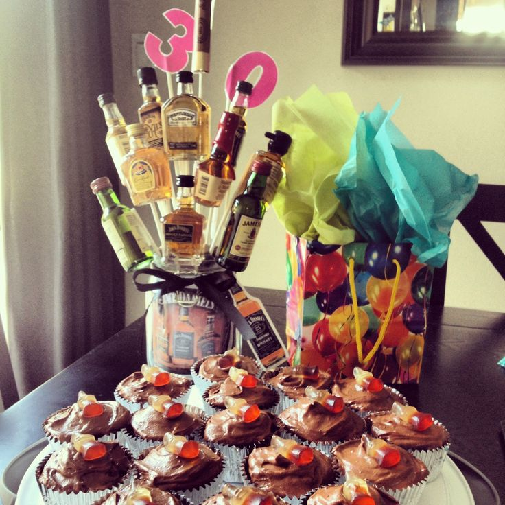 Dirty 30 centerpiece parties celebrations pinterest bottle gifts and you are - Birthday party theme for men ...