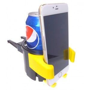 Multifuncional soporte para móviles, cocacola en rejilla de coche