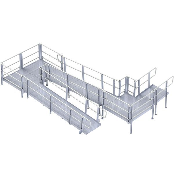 DiscountRamps.com has the guaranteed lowest prices on the ADA-compliant, PVI Modular XP aluminum wheelchair ramp system for both home access and business use.