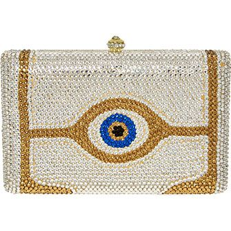 Silver & Gold Tone Jeweled Clutch Bag