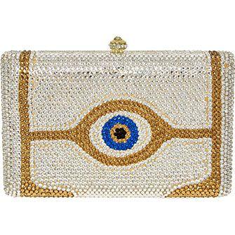 Silver & Gold Tone Jeweled Clutch Bag