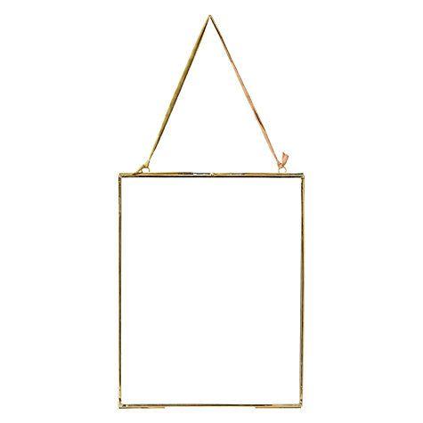 """Buy Nkuku Kiko Glass Portrait Photo Frame, Brass, 8 x 10"""" (20 x 25cm) Online at johnlewis.com"""