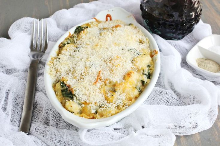 Kale + Garlic Baked Gnocchi - I'd like to do this as mac & cheese