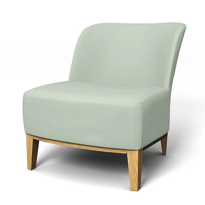 Stockholm, Armchair Covers, Armchair, Regular Fit - easy chair  using the fabric Brera Lino Pale Aqua