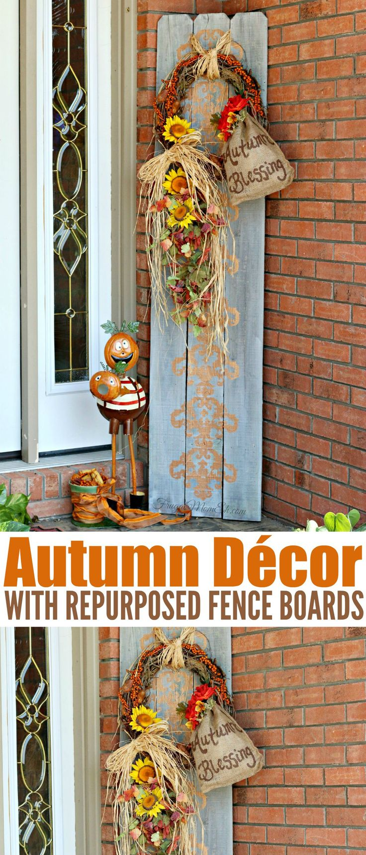 Autumn D Cor With Repurposed Fence Boards Crafts Home Craft Ideas And Home