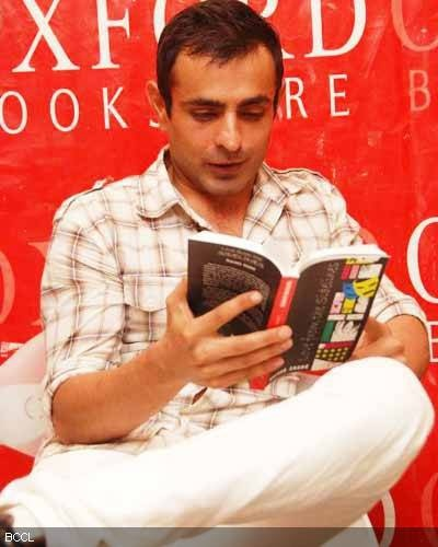 Mayank Anand at his debut book Love from the Sidelines reading at oxford — with Mayank Anand and Oxford Bookstores