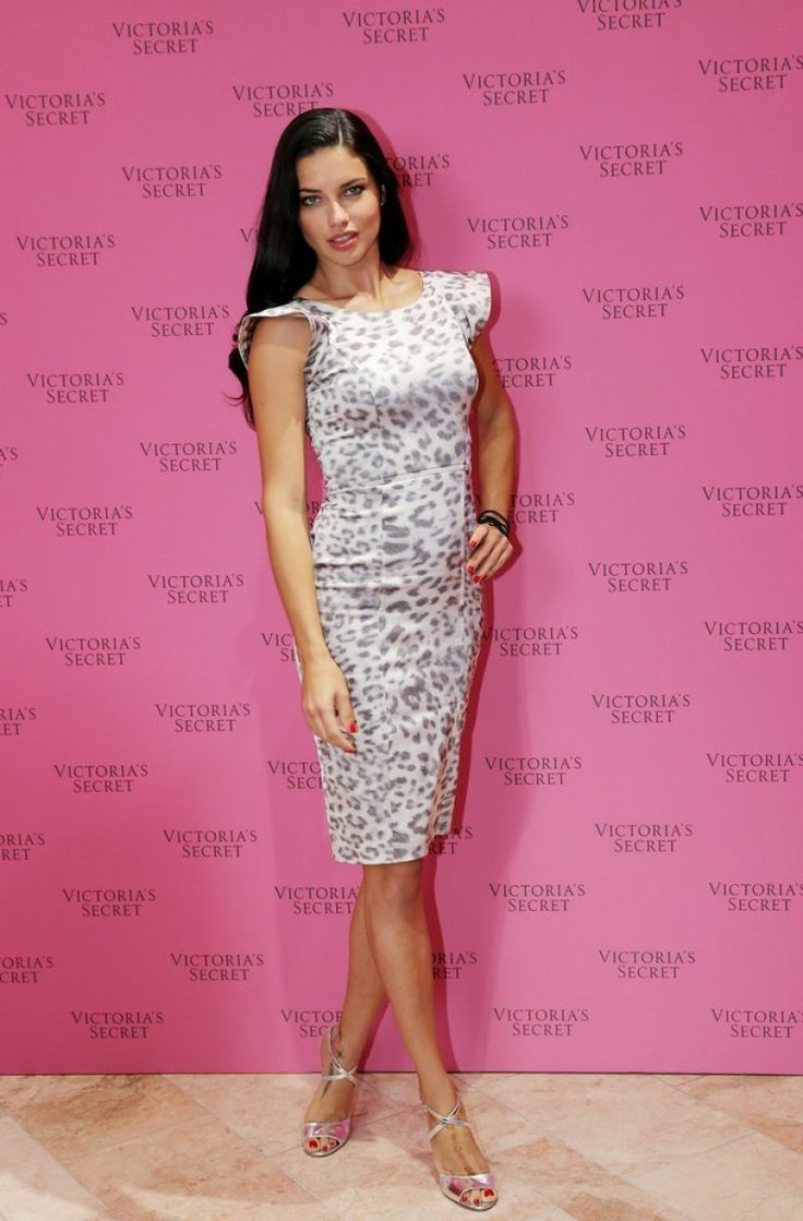 Adriana Lima.. Alexis Leopard-Print Dress with Flared Capped Sleeves, and Jerome C. Rousseau 'Popp' sandals..... - Celebrity Fashion Trends