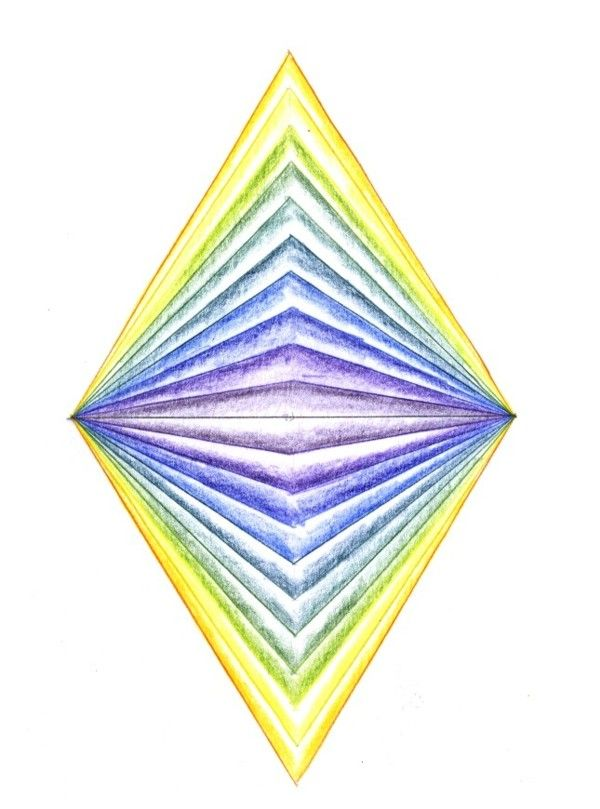 Age 12 ~ Geometric Drawing ~ Reflecting Triangles ~ main lesson book