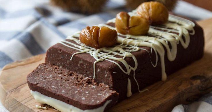 Κέικ κάστανο χωρίς ψήσιμο