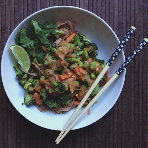 Rice noodles, Edamame and Brown rice on Pinterest