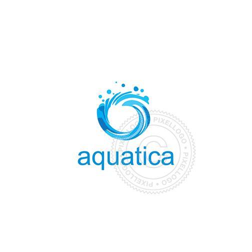 water splash logo   Pixellogo