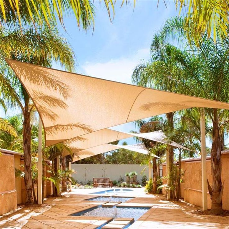 Charmant Best Waterproof Uv Protection Shade Sail Garden Yard Size 36*36 Rectangle  Fabric Sun Shades