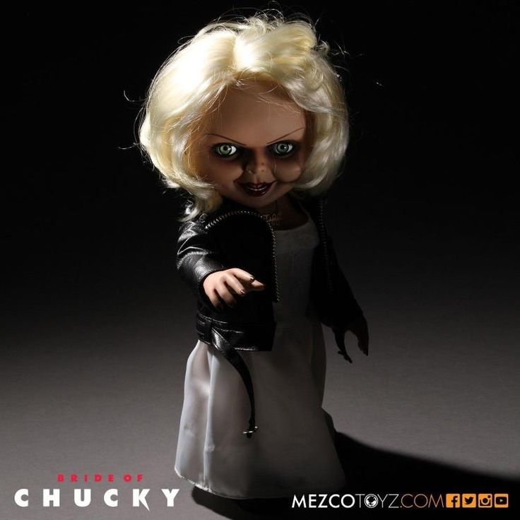 MEZCO 15inch Horror Child's Play Chucky Bride of Chucky Tiffany Talking Toys Collectible Action Figure Easter Halloween Gift