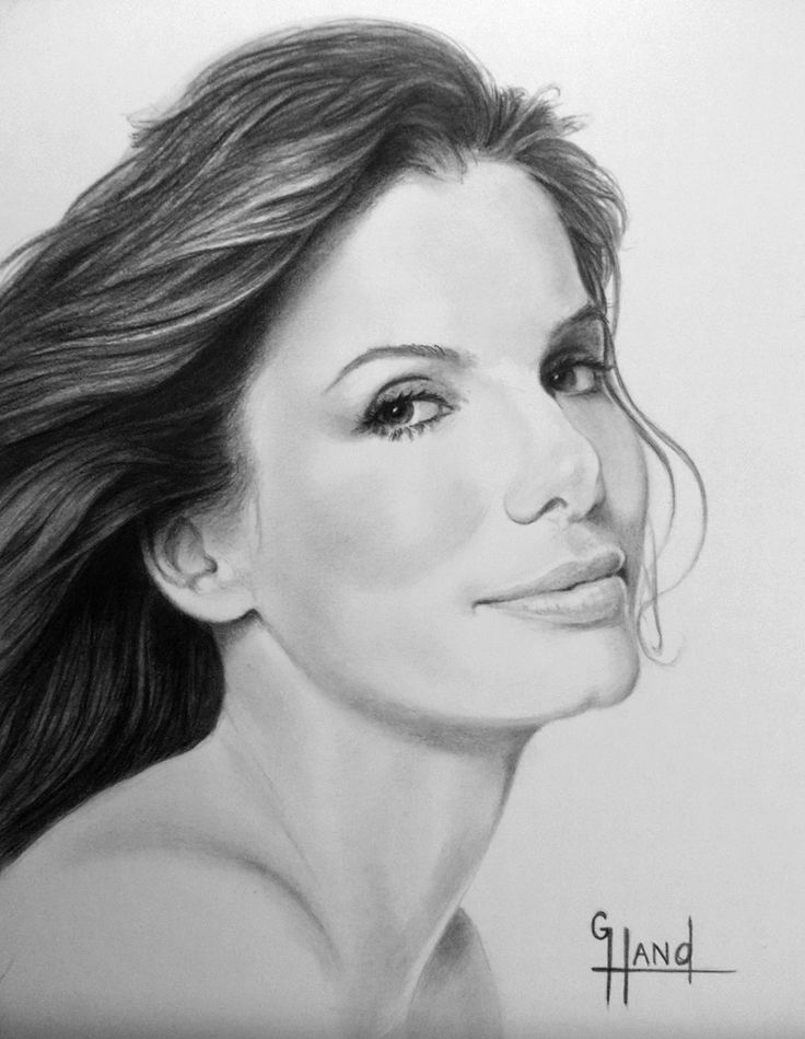 Sandra Bullock Drawing by Greg Hand..Commission a drawing from your photo