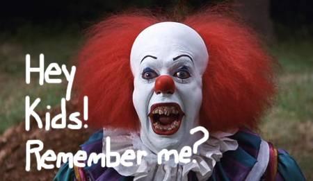 "Hey kids! Remember me?    Stephen King's ""It"""