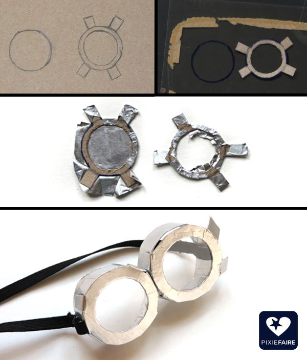 "How to make Minion goggles for 18"" dolls; free costume tutorial! 