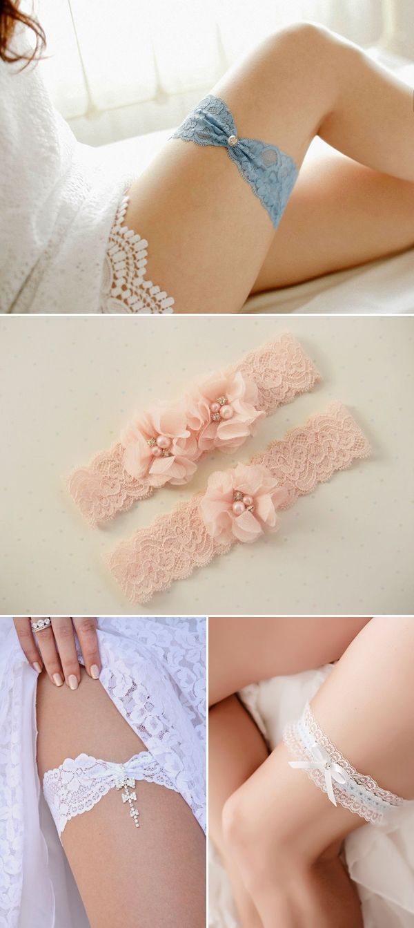 20 Utterly Romantic Bridal Garters - Simple and chic lace designs