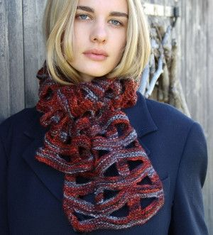 From Hamilton yarns- worked in  new Geometric Openwork ™ technique is a quick knit all in Garter stitch