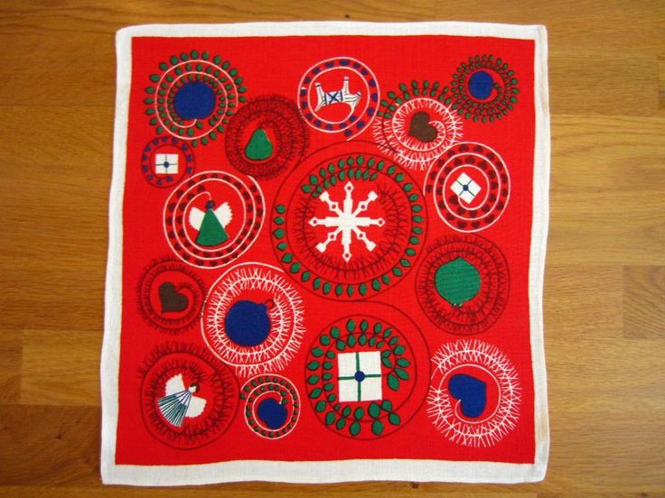 Julduk - Fint mönster - 50-60-tal - Retro på Tradera.com - Textil |