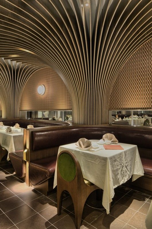 Pak loh times square restaurant nc design architecture for Architectural columns interior