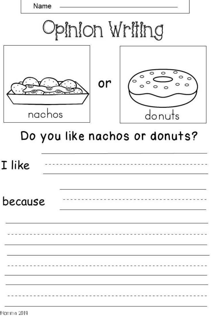 99 For 15 Opinion Writing Printables This Is An Opinion Writing Worksheet For Kindergarten Or First Grade Writing Writing Center Kindergarten Writing Lessons