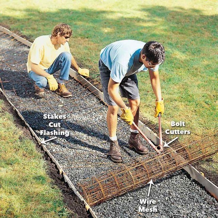 How to pour a concrete sidewalk concrete walkway