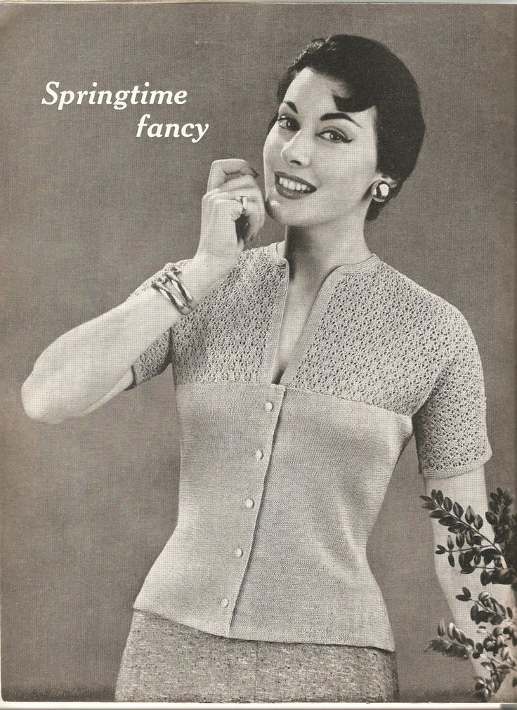 Instant download, 1930s knitted jumper / cardigan vintage pattern  dainty cotton jumper. by OakendOriginals on Etsy https://www.etsy.com/listing/187476769/instant-download-1930s-knitted-jumper