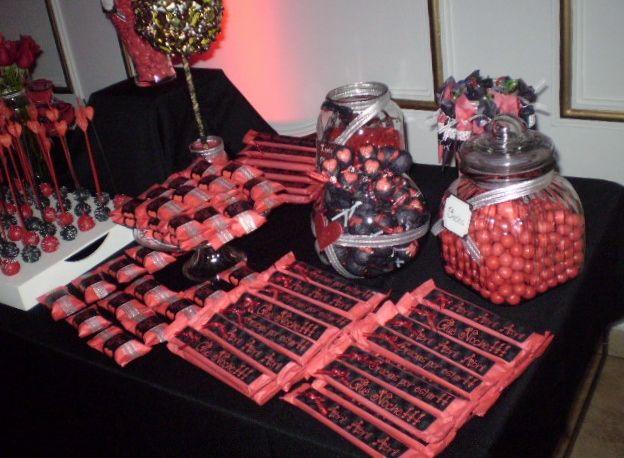 Candy Bar Love... Frascos de vidrio Personalizados con Lentejas, Caramelos y Goma de Mascar  Love...