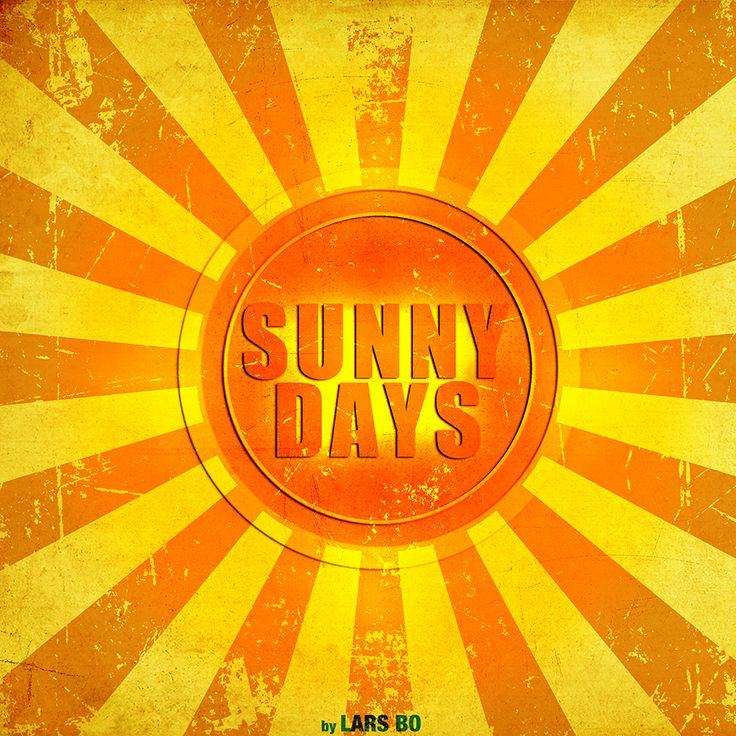"""This is a music cover design for a song called """"Sunny days"""" composed by Lars Bo http://facebook.com/LarsBoMusic"""