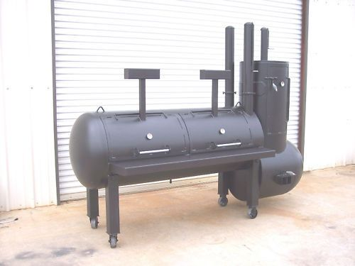 NEW BBQ pit smoker cooker and Charcoal grill stationary | Business & Industrial, Restaurant & Catering, Commercial Kitchen Equipment | eBay!