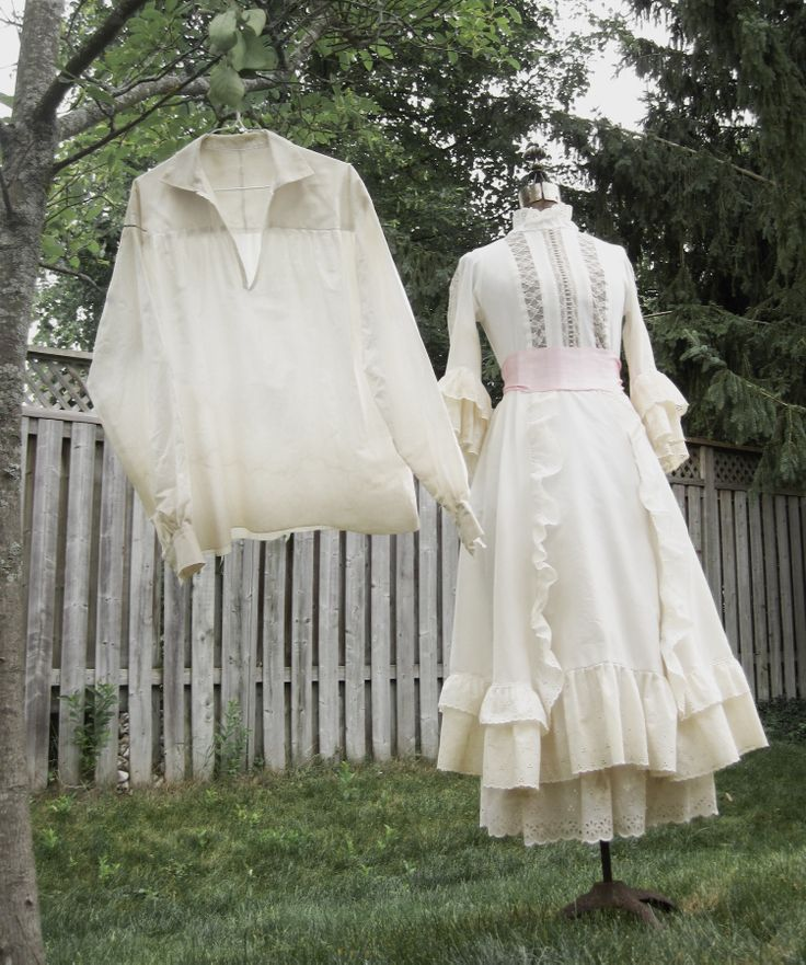 Replicas of movie costumes from Tuck Everlasting. Check