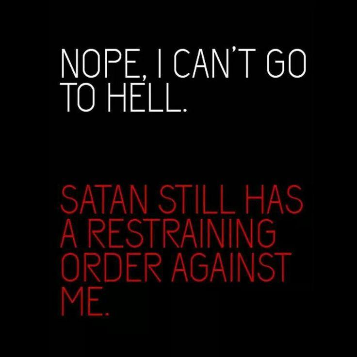 That Satan is such a wuss... It was just a joke...