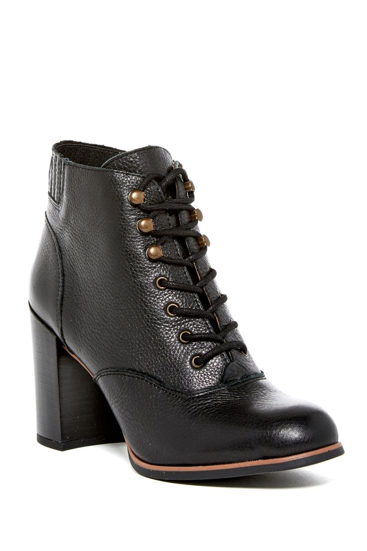 Savor Lace-Up Bootie by Franco Sarto on @nordstrom_rack