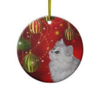 Persian kitten Christmas Ornaments