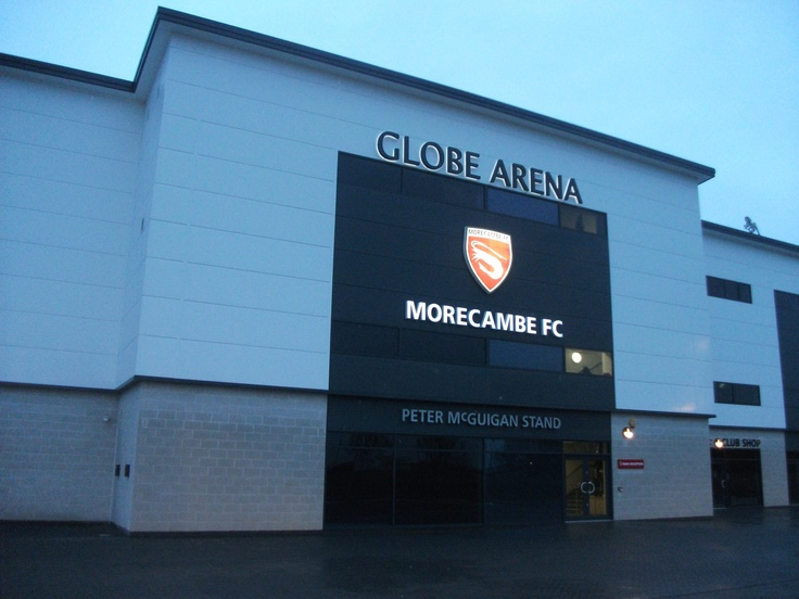 The Start and Finish Line to our 100 Football Stadium Tour - Morecambe FC: The Globe Arena