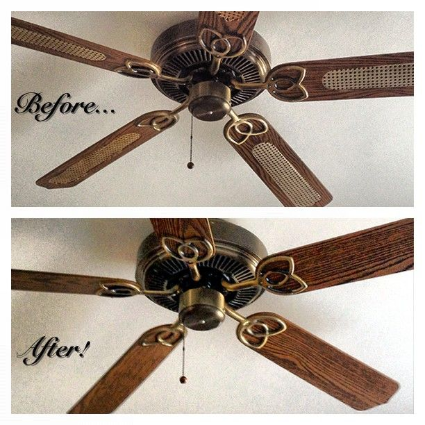 Paint Ceiling Fan : Revamp an old ceiling fan just flip the blades you can