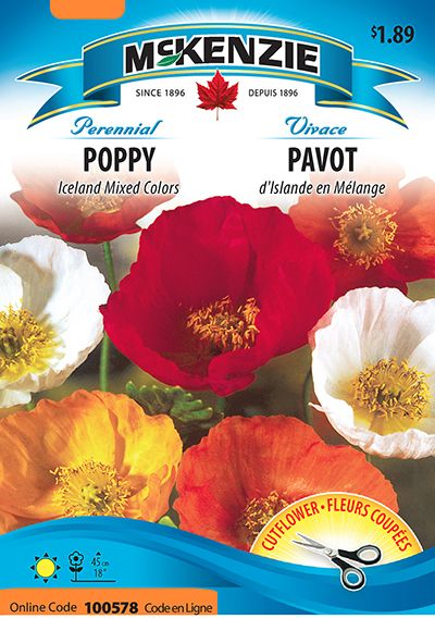 Poppy Iceland Mixed Colors | McKenzie Seeds