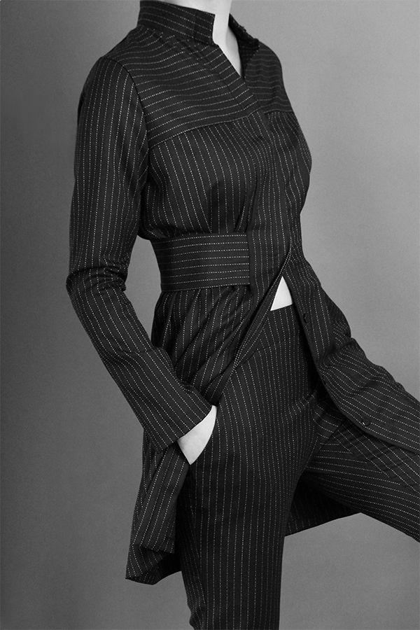 Pinstripe Suit http://honeygold.eu/product/pinstripe-shirt-dress/