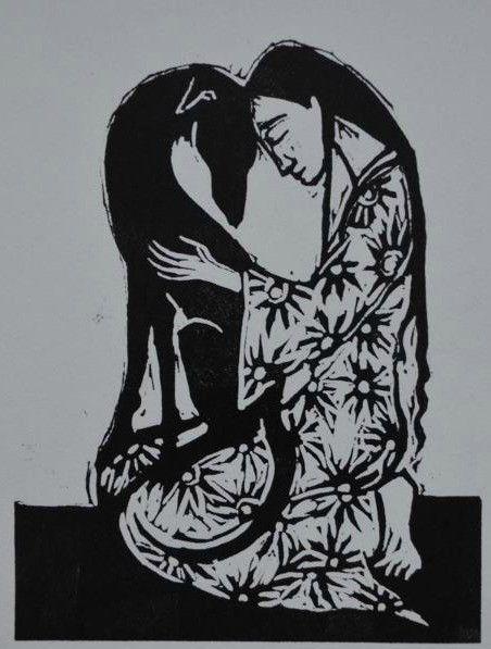Jackie Morris Love Linocut Print