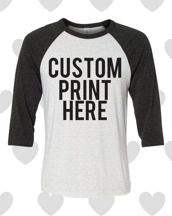 Custom Baseball Unisex Shirt with your Saying by DanielleRoseThree