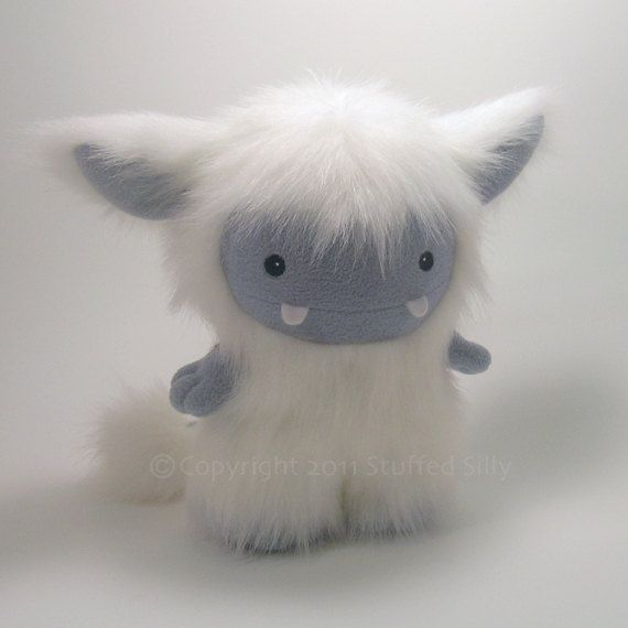 White Frost Monster Cute Plush Toy by Stuffed by stuffedsilly. $70.00, via Etsy. #plushies