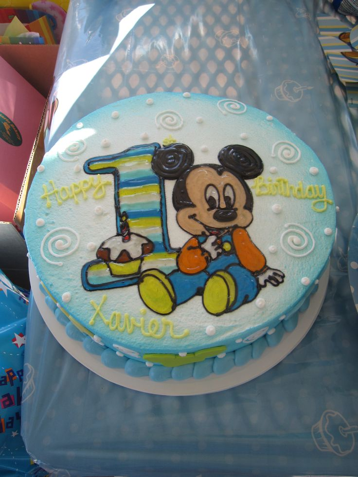 Mickey Mouse 1st Birthday Cake For X Mickey Mouse