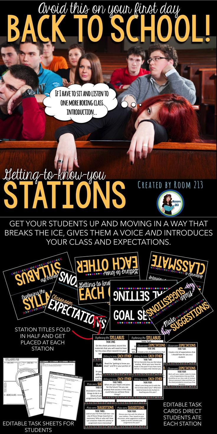 Middle and high school English teachers: looking for a fun and effective first day of school activity? Try stations!