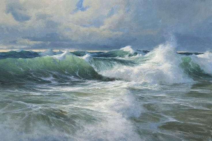 Donald Demers Paintings Ocean Breakers