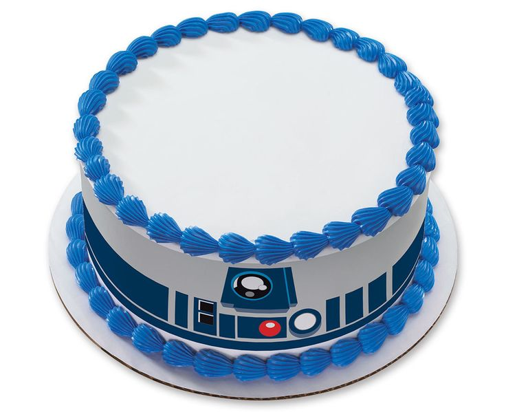 No need to use Jedi mind tricks to create a cake just like a pro. Wrap up an R2-D2 cake design at warp speed with these easy-to-use edible decorations. Simply peel the strips from the backing and apply to the sides of a freshly iced cake. Fnish with a ...