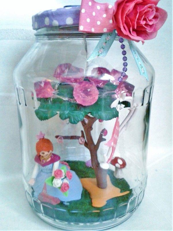 Lampe jardin, figurine princesse Playmobil, arbre lumineux ...